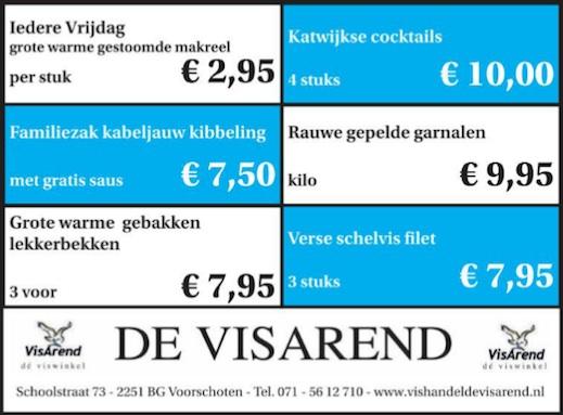 Aanbiedingen vishandel de Vishandel in Voorschoten vanaf 14 april 2016.
