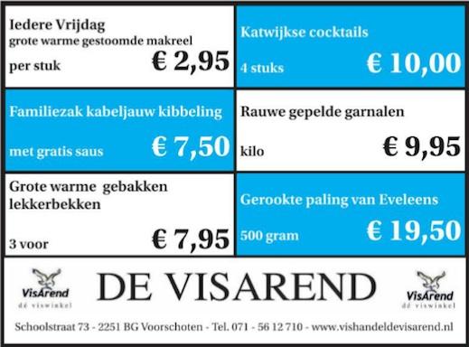 Aanbiedingen vishandel de Vishandel in Voorschoten vanaf 28 april 2016.