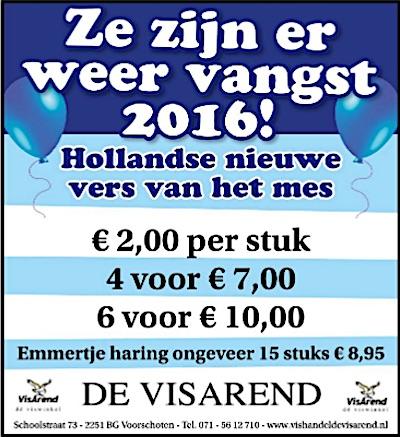 Aanbiedingen vishandel de Vishandel in Voorschoten vanaf 16 juni 2016.