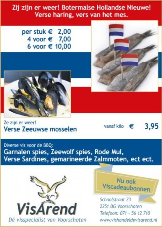 Aanbiedingen vishandel de Vishandel in Voorschoten vanaf 6 juli 2017.